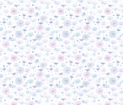 Herbs. Blue, violet. fabric by yaskii on Spoonflower - custom fabric