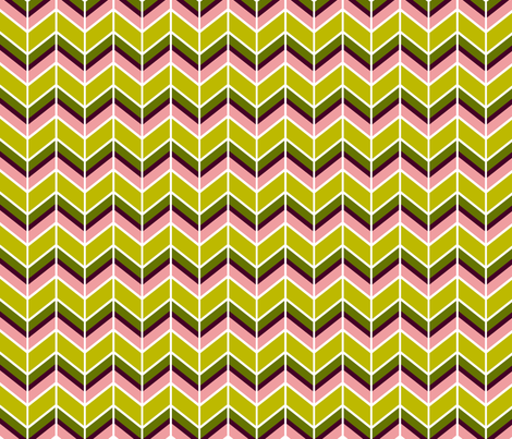 HERRINGBONE GEO in Pink fabric by hitomikimura on Spoonflower - custom fabric