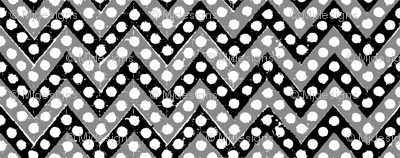 Small Zig Zag / Black Gray & White