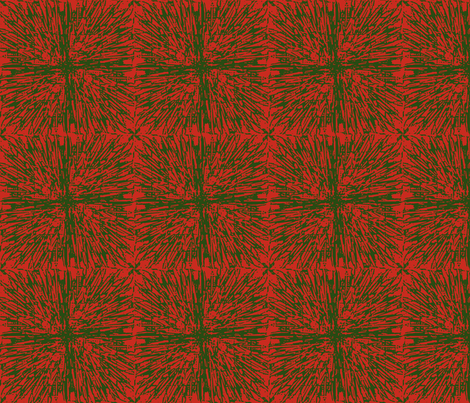 Christmas tablecloth green on red fabric by meredithjean on Spoonflower - custom fabric