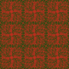 Christmas tablecloth red on green