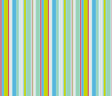 Mint Stripe fabric by tracey_butterfield on Spoonflower - custom fabric