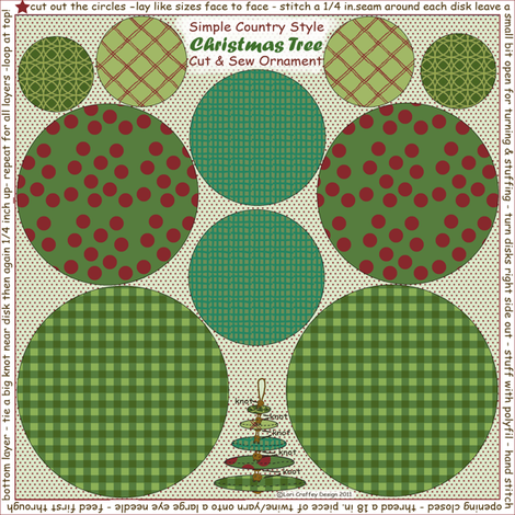 Simple Country Tree Ornament fabric by littlerhodydesign on Spoonflower - custom fabric