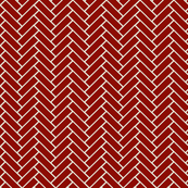 herringbone red and beige