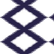 Diamond ikat - indigo and white