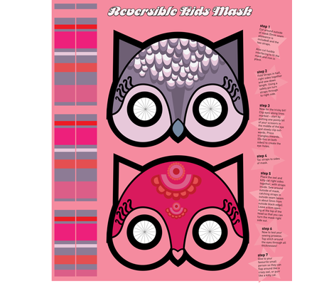 Meowing Owl  fabric by nerida_jeannie on Spoonflower - custom fabric