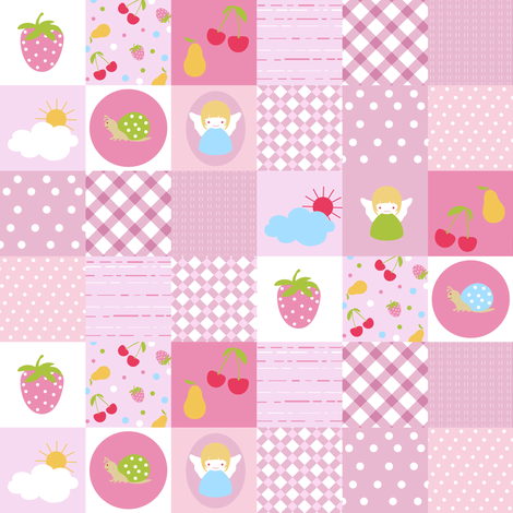 Baby patchwork pattern fabric by yaskii on Spoonflower - custom fabric