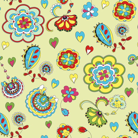 Abstract floral fabric by yaskii on Spoonflower - custom fabric