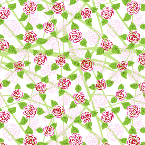 Rose fabric by yaskii on Spoonflower - custom fabric