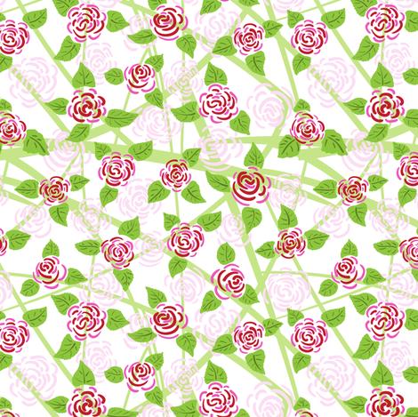 Rose fabric by yaskii on Spoonflower - custom fabric