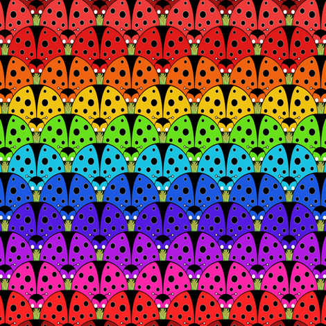 Ladybird Rainbow fabric by beth_snow on Spoonflower - custom fabric