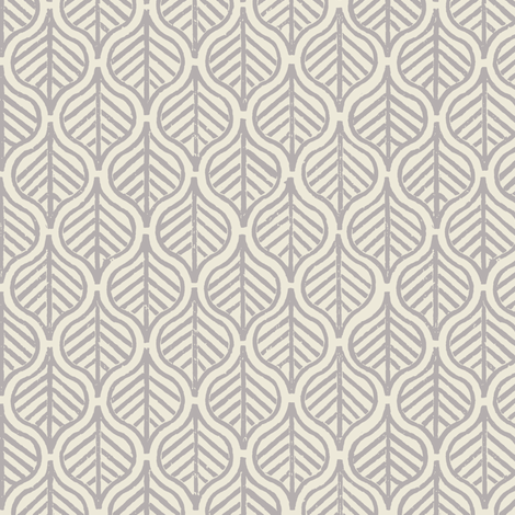 Indian Leaf / Gray & Natural fabric by mjdesigns on Spoonflower - custom fabric