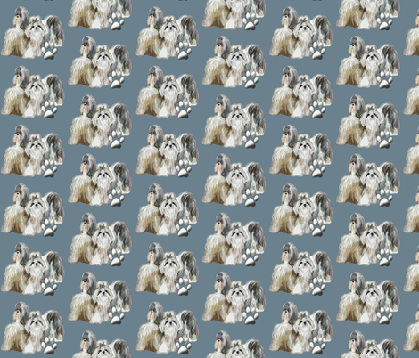 Shihtzu Dogs fabric by dogdaze_ on Spoonflower - custom fabric