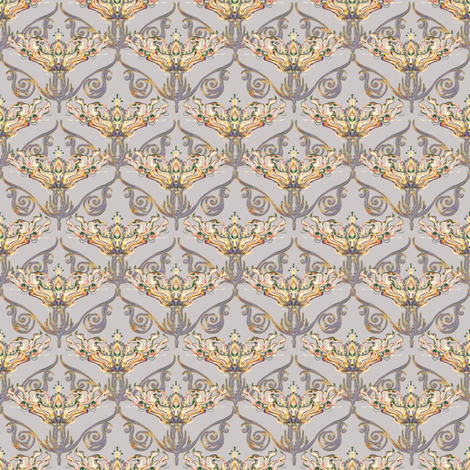 Nouveau antique bronze fabric by joanmclemore on Spoonflower - custom fabric