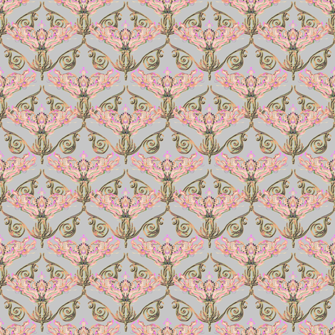 Nouveau pink fabric by joanmclemore on Spoonflower - custom fabric