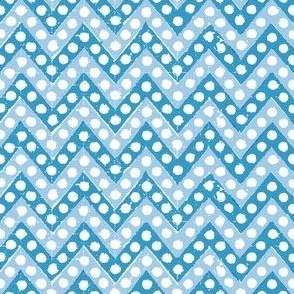 Small Zig Zag / Teal & Light Blue