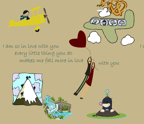 Nate & Em's song fabric by vicky_s on Spoonflower - custom fabric
