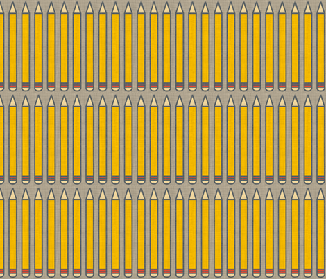 pencils_linen fabric by holli_zollinger on Spoonflower - custom fabric