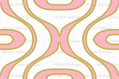 raindrop pink and gold