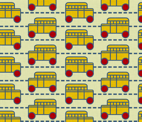 bus_line_linen fabric by holli_zollinger on Spoonflower - custom fabric
