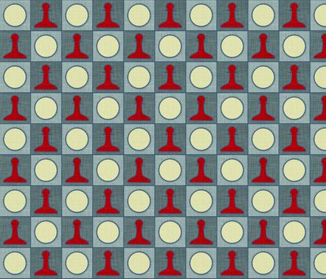 checker_linen fabric by holli_zollinger on Spoonflower - custom fabric