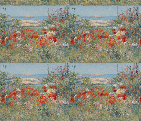 Celia Thaxter's Garden - 1890 - Childe Hassam fabric by studiofibonacci on Spoonflower - custom fabric