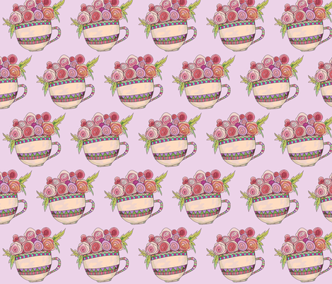 pinktea-ch fabric by lunaandwillow on Spoonflower - custom fabric