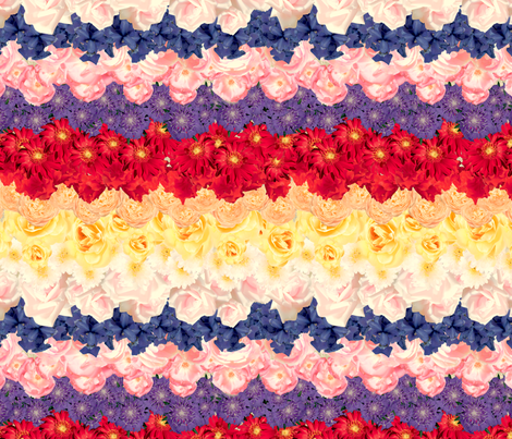Floral Chevron Multi fabric by juliamonroe on Spoonflower - custom fabric