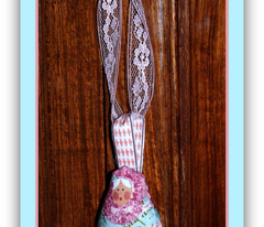 A Babushka Hanging Ornament in French Script
