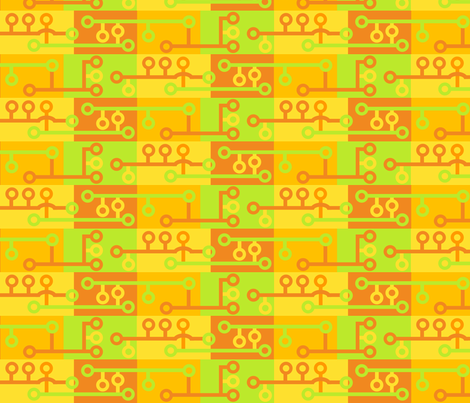 Citrus Circuits 010 fabric by lowa84 on Spoonflower - custom fabric