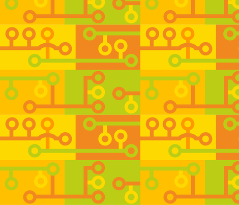 Citrus Circuits 011 fabric by lowa84 on Spoonflower - custom fabric