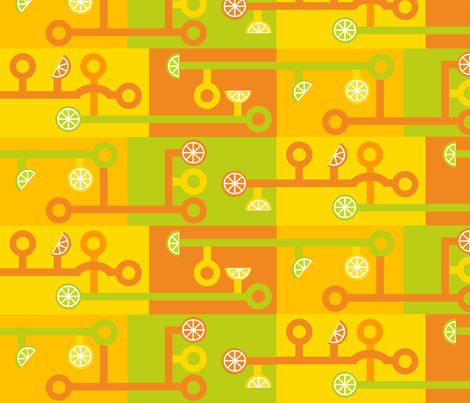 Citrus Circuits 100 fabric by lowa84 on Spoonflower - custom fabric