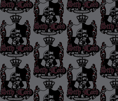 Sith Lord Crest - Grey fabric by teaandcraft on Spoonflower - custom fabric