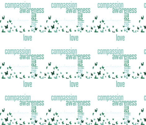 jewelsofawe's letterquilt Compassion Matters fabric by peacefuldreams on Spoonflower - custom fabric