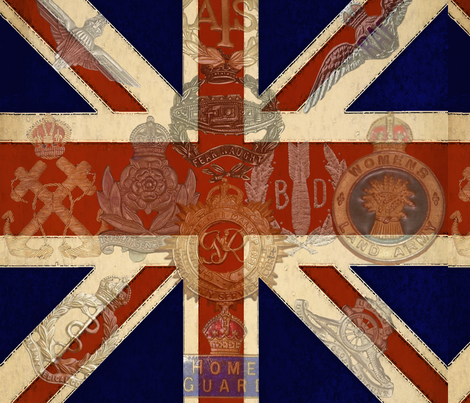 Vintage Union Jack fabric by kitten_von_mew on Spoonflower - custom fabric