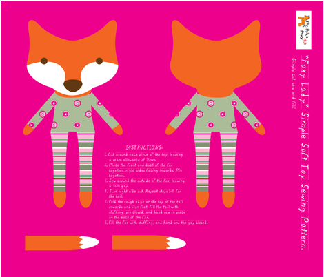 'Foxy Lady' plushie fabric by delsie on Spoonflower - custom fabric