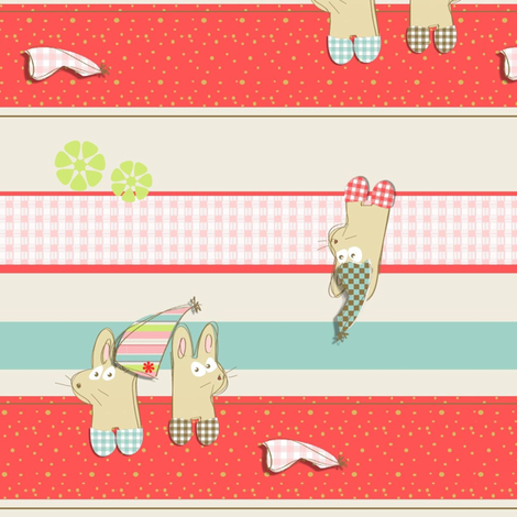 party bunnies fabric by kato_kato on Spoonflower - custom fabric