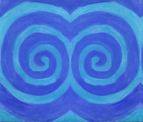Blue Spiral fabric by queeninmyownmind on Spoonflower - custom fabric