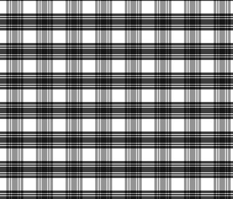 Black & White Plaid fabric by pond_ripple on Spoonflower - custom fabric