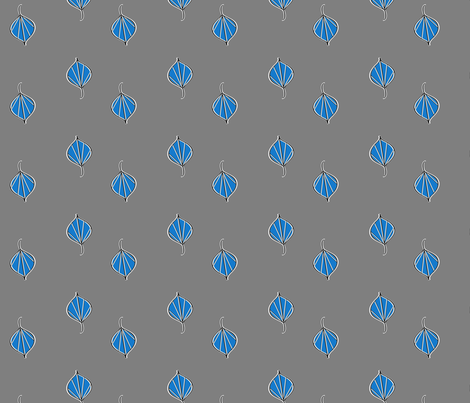 cobalt blew the leaves fabric by fabricfarmer_by_jill_bull on Spoonflower - custom fabric