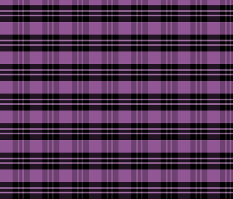 Purple Plaid fabric by pond_ripple on Spoonflower - custom fabric