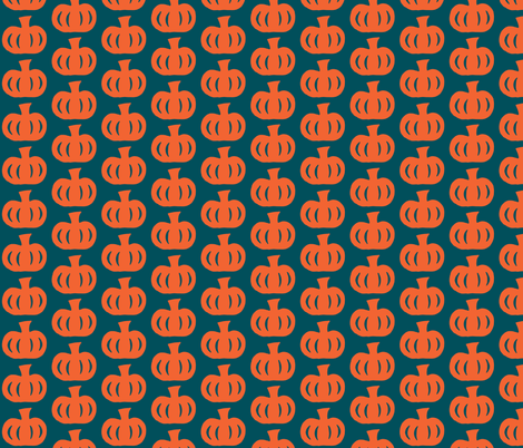 Pumpkin Print fabric by fabricbycatherine on Spoonflower - custom fabric