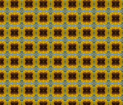 Yellow Sunflower fabric by peacefuldreams on Spoonflower - custom fabric