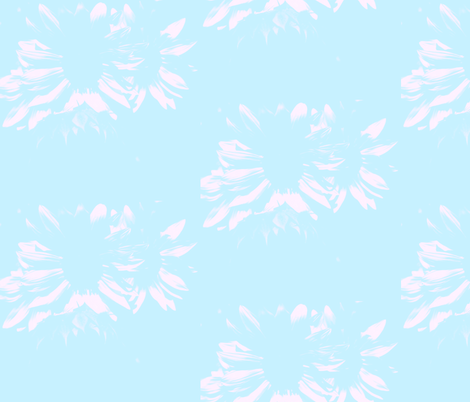 Light Aqua with Flowers fabric by peacefuldreams on Spoonflower - custom fabric
