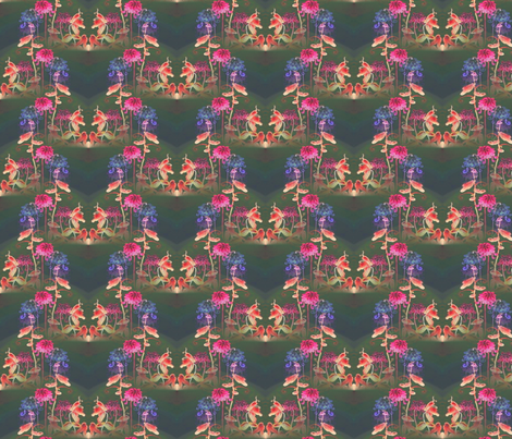 spring_flowers_at_night fabric by vinkeli on Spoonflower - custom fabric