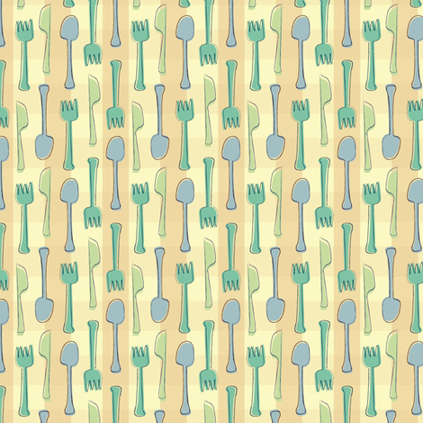 utensils fabric by lighthearts on Spoonflower - custom fabric