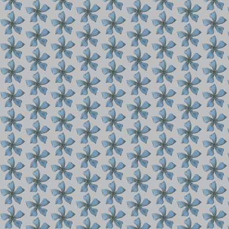 The Blue on the Gray fabric by mbsmith on Spoonflower - custom fabric