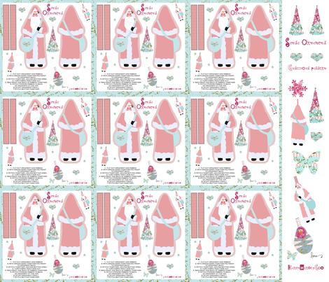 Santa Hanging Ornaments fabric by karenharveycox on Spoonflower - custom fabric