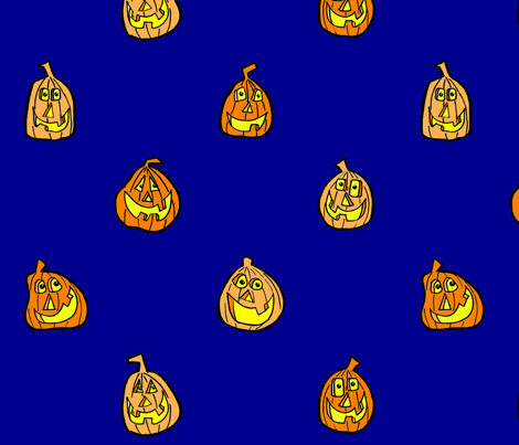 Jack-o-Lanterns fabric by artzeechris on Spoonflower - custom fabric