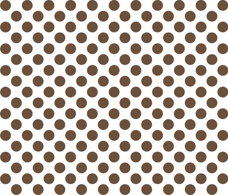dot_12x12_CoffeeLiqueur fabric by curlywillowco on Spoonflower - custom fabric
